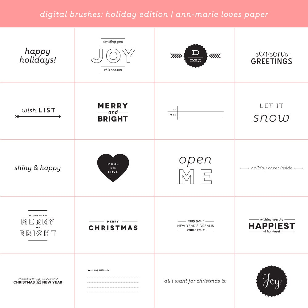 Digital Brushes: Holiday Stamp Edition
