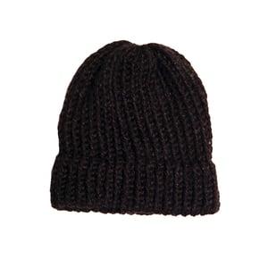 Image of Black knit beanie