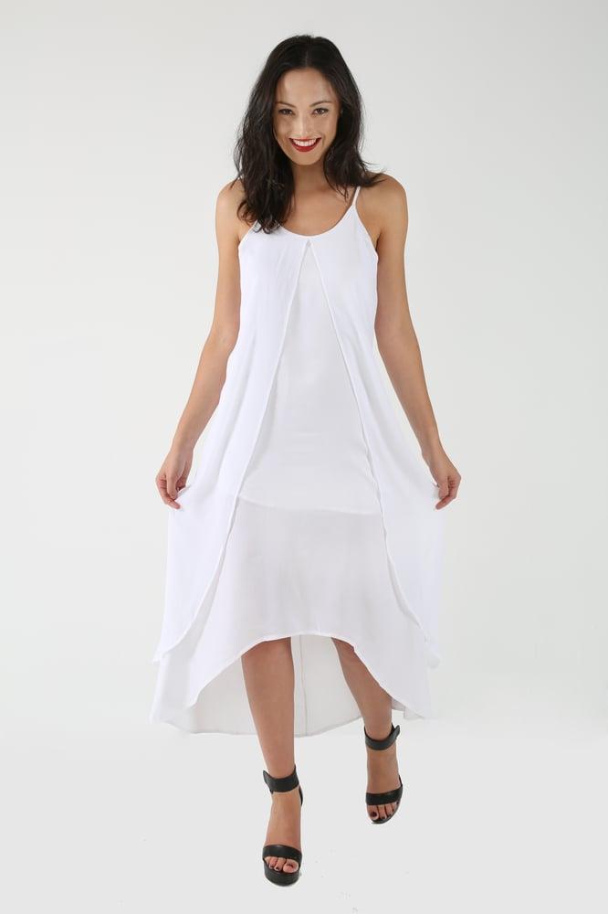 Image of Wispy White Maxi Dress