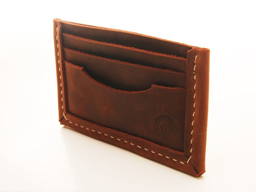 Image of Minimalist Stoned Oil Leather Wallet