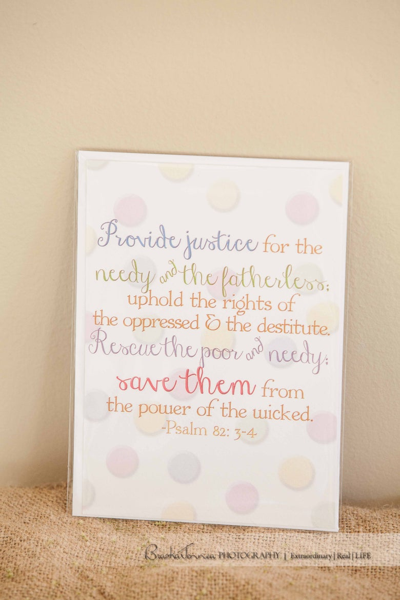 "Image of ""Psalm 82"" 5x7 Card/Wall Print"