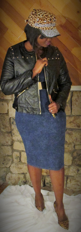 Image of Faux leather jacket