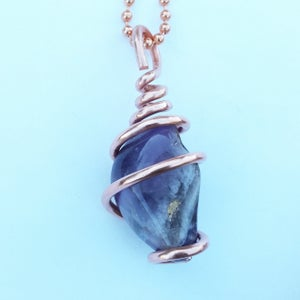 Image of Copper Wrapped Chevron Amethyst