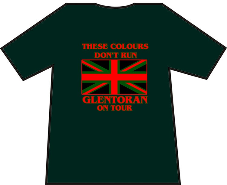 Glentoran, These Colours Don't Run t-shirt.