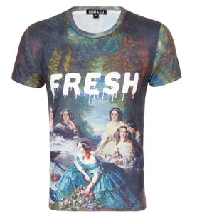 Image of Fresh river mural t shirt