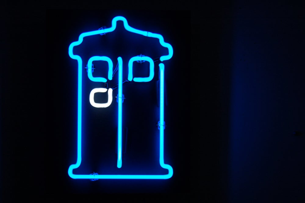 Image of TARDIS neon sign