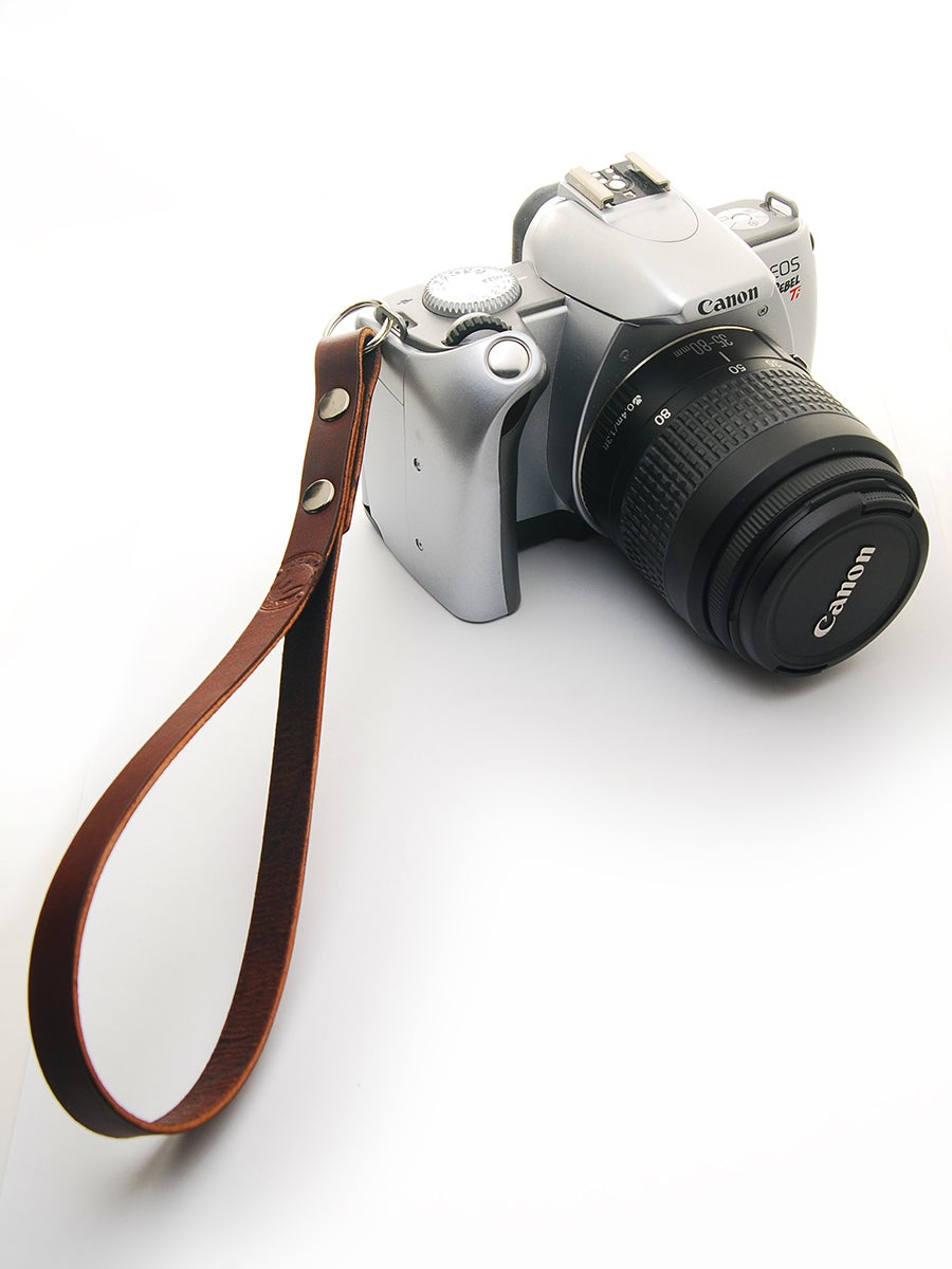 Image of Leather Camera Wrist Strap/Carry Strap
