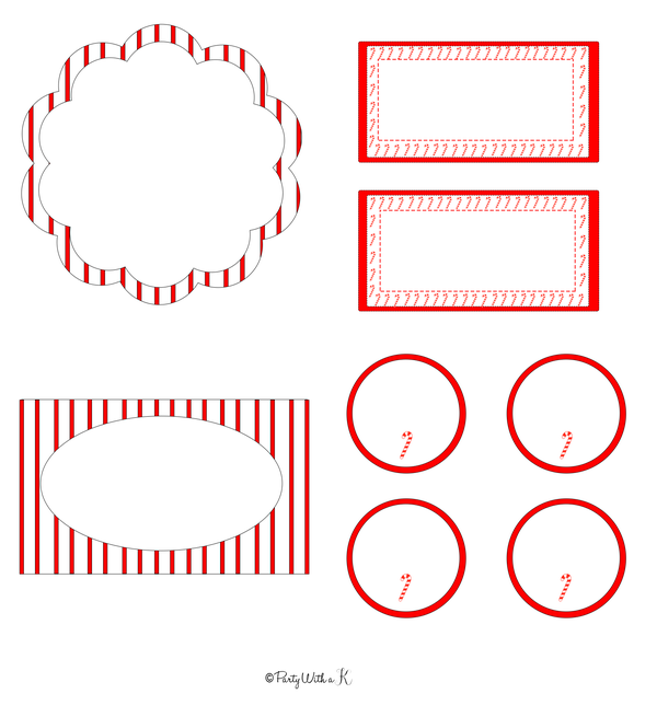 Image of Christmas Candycane Party Printables