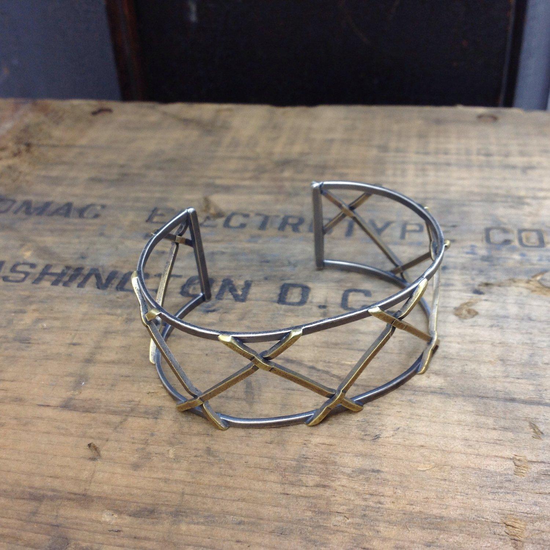 Image of open mesh cuff bracelet