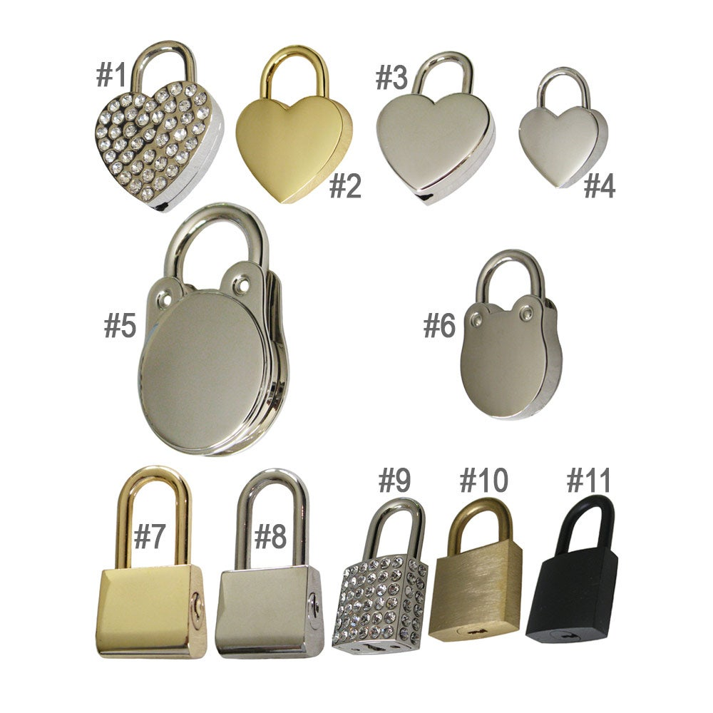 Image Of Replacement Lock Key Sets For Handbags Purses Bags Gold