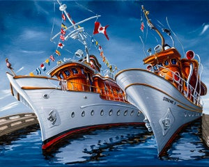 Image of MV Deerleap and Syrene I Limited Edition Giclees on Canvas