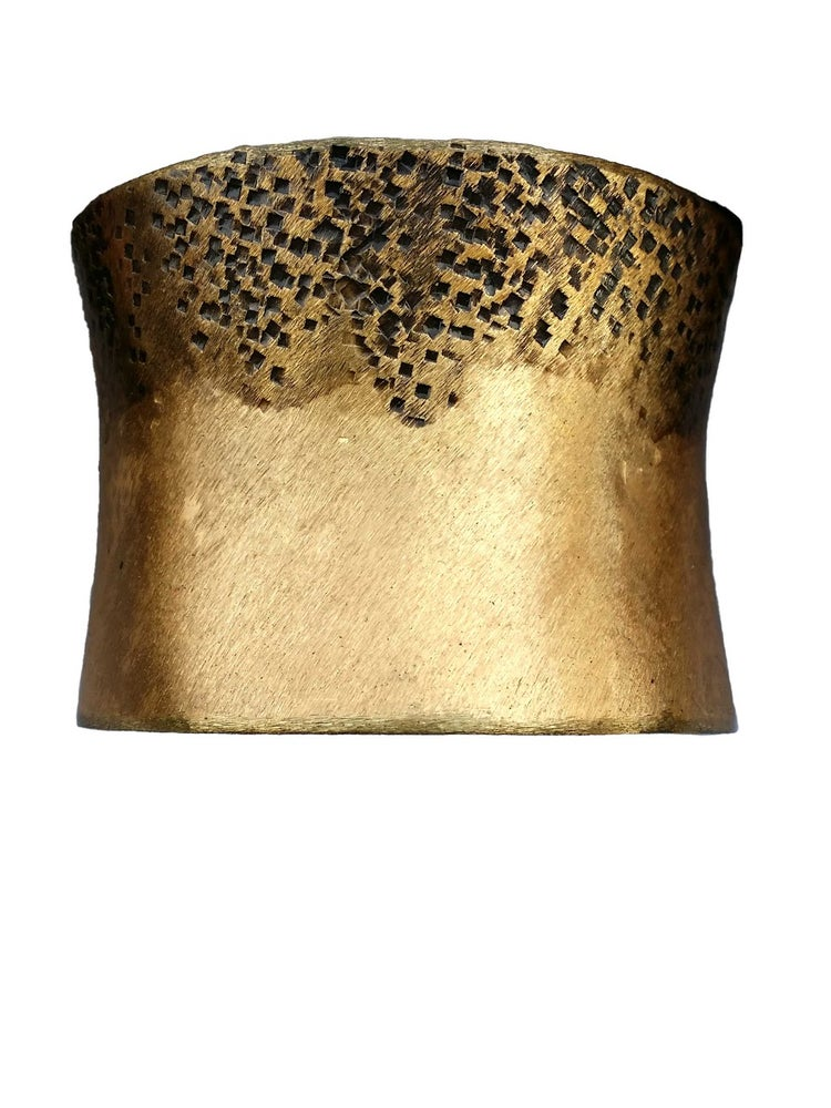 Image of Gold Rustic Textured Big Cuff