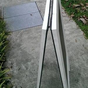 Standing Chalkboard Cream White Broad Frame