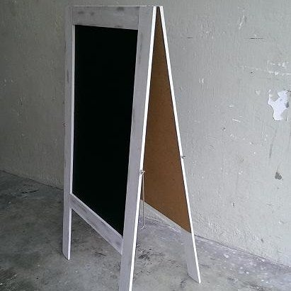 Image of Standing Chalkboard with Cream White Broad Frame