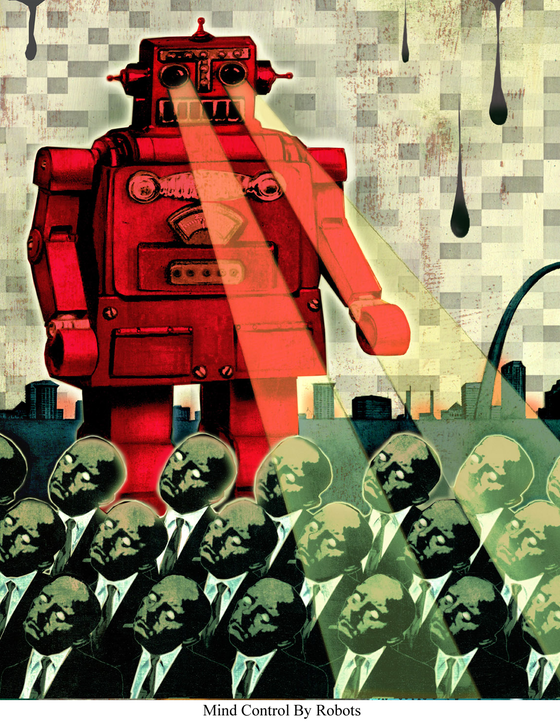 Image of Canvas Giclee- Mind Control By Robots