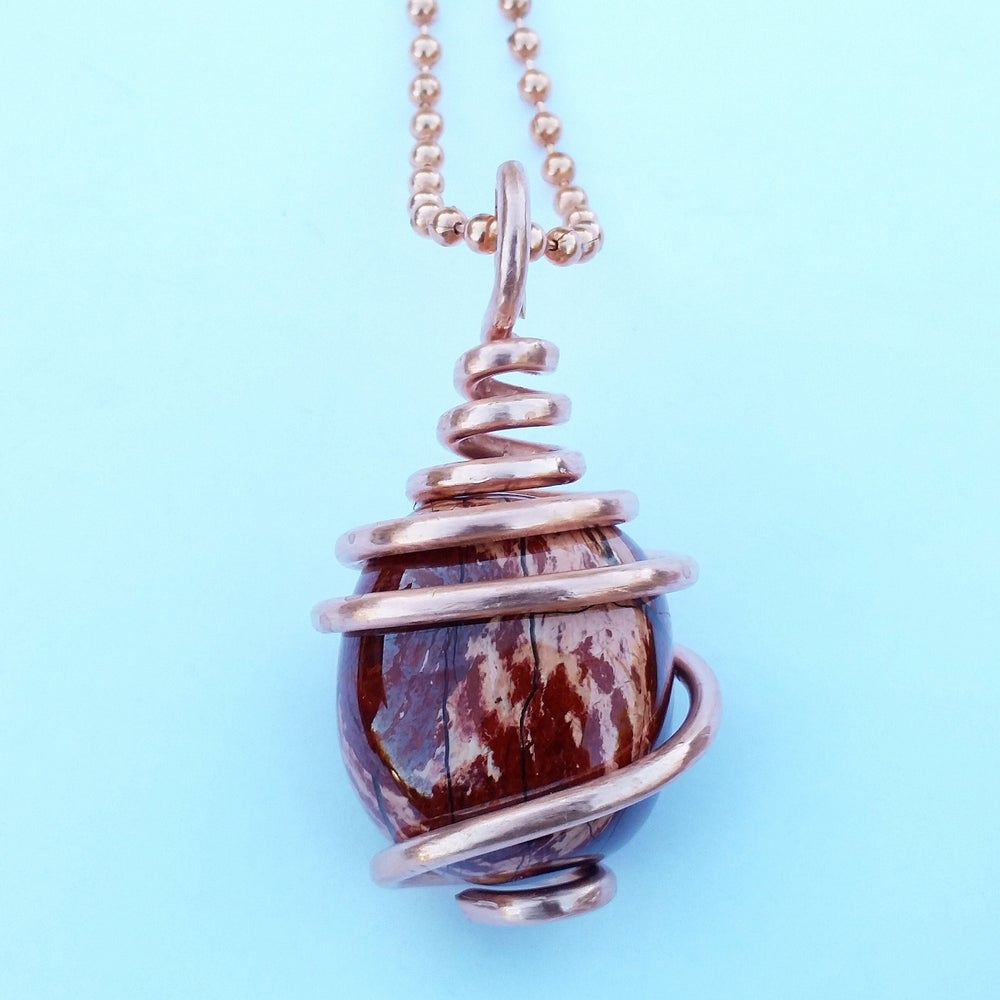 Image of Copper Wrapped Red Jasper