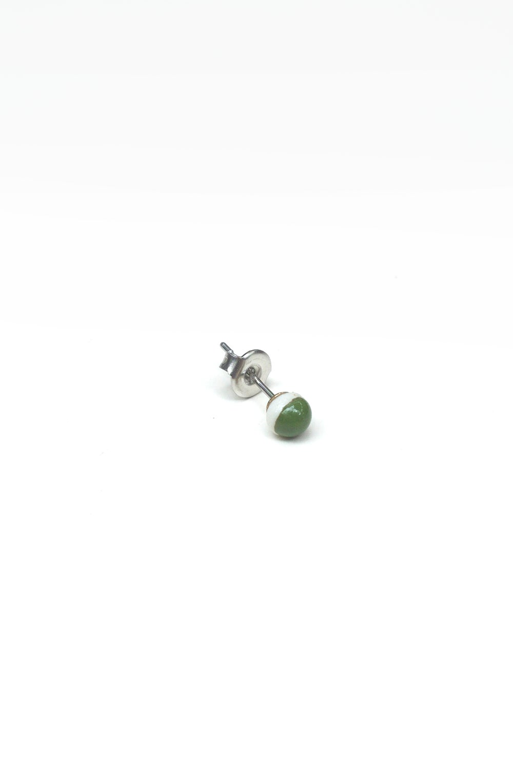 Image of green dot earring