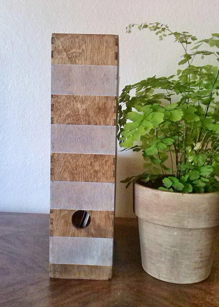 Image of Striped Lime-Washed Wood Magazine File
