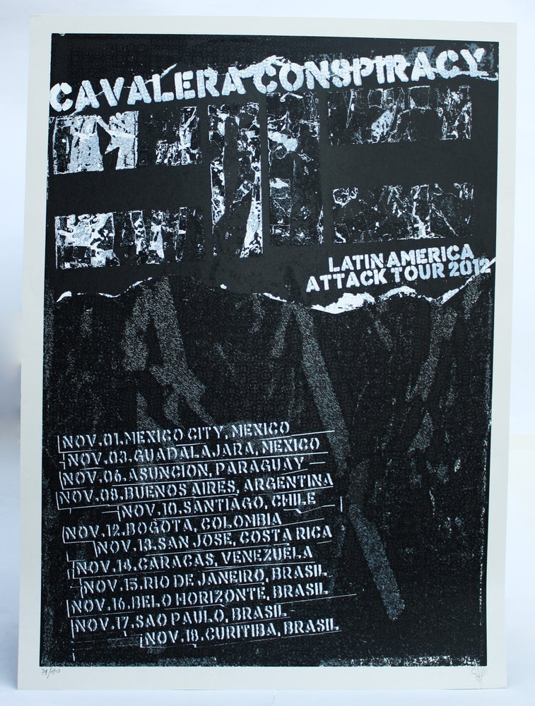 Image of Gravura CAVALERA CONSPIRACY 48x66 cm