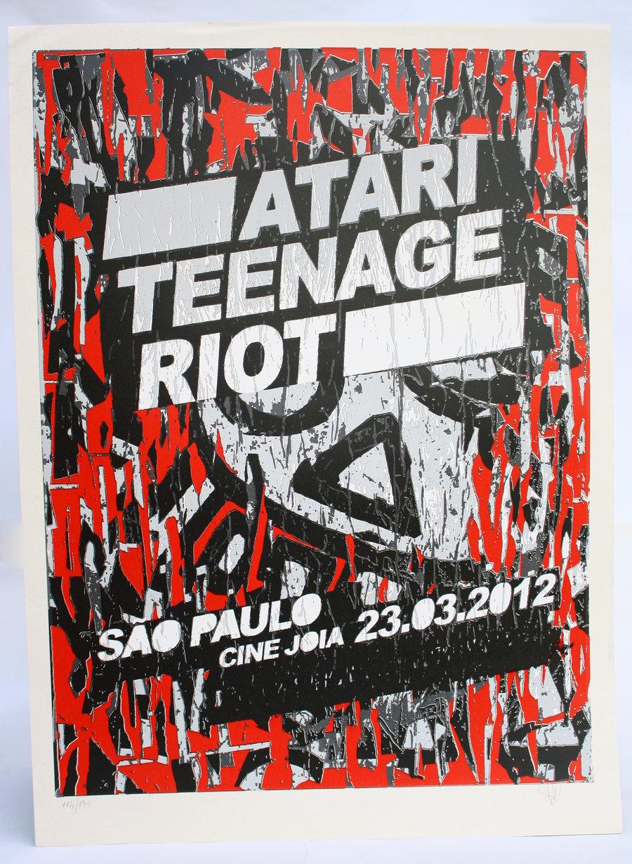 Image of Print ATARI TEENAGE RIOT - 48x66cm
