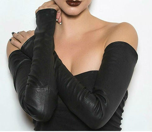 Image of MIRAL vegan leather gloves