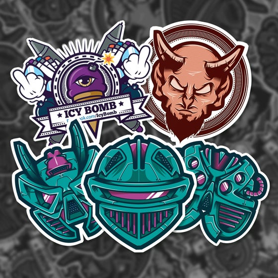 Image of Icy Bomb's Stickers Pack #1