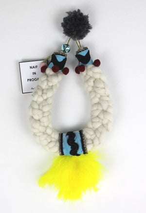 Image of WOOL + YELLOW FEATHERS COLLAR