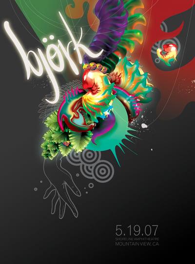 Image of Bjork Concert Poster