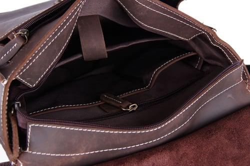 Image of Vintage Leather Backpack, Messenger Bag, Laptop Briefcase, Handbag 6963