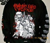 Image of Animals Killing People - Hooded Sweatshirt - Human being devoured by Animals design