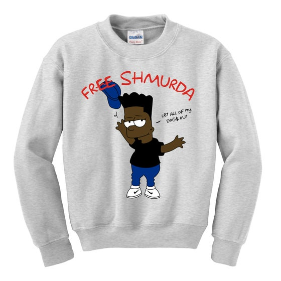 Image of SHMURDA SIMPSON CREWNECK