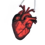 Image of Anatomica Red Heart Necklace