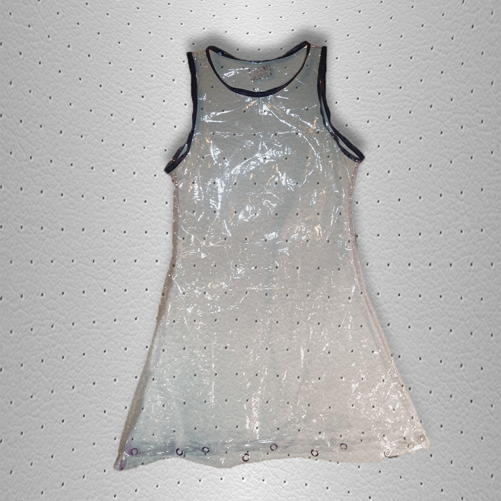 Image of clear barbie dress