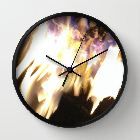"Image of ""BLUE FLAME CLOCK"" 5 LEFT"