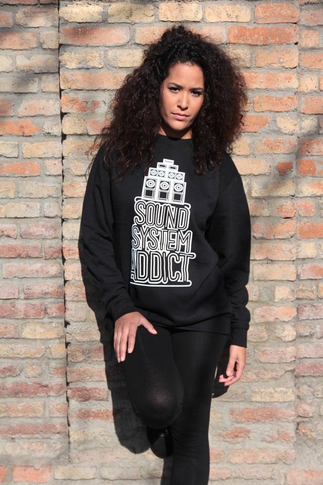 Image of SOUNDSYSTEM ADDICT Sweatshirt  (black)