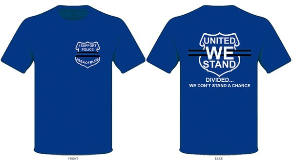 Image of Sea OF Blue - I Support Police T-SHIRT