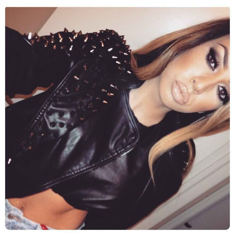 Image of Kylie Leather Studded Jacket