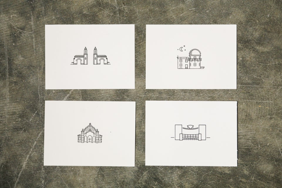 Image of Landmarks Print Set