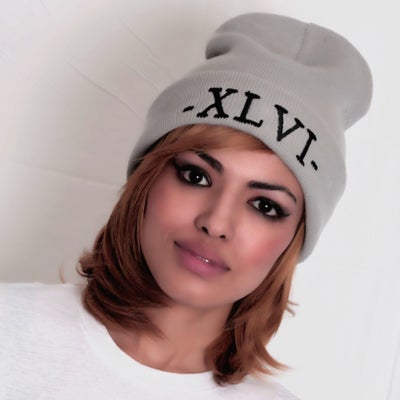 Image of XLVI Grey/Black Beanie