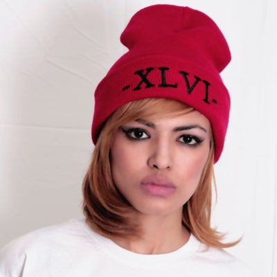 Image of XLVI Red/Black Beanie