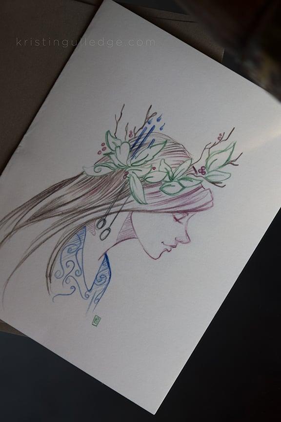 Lady Christmas Card / kristin gulledge // art and design