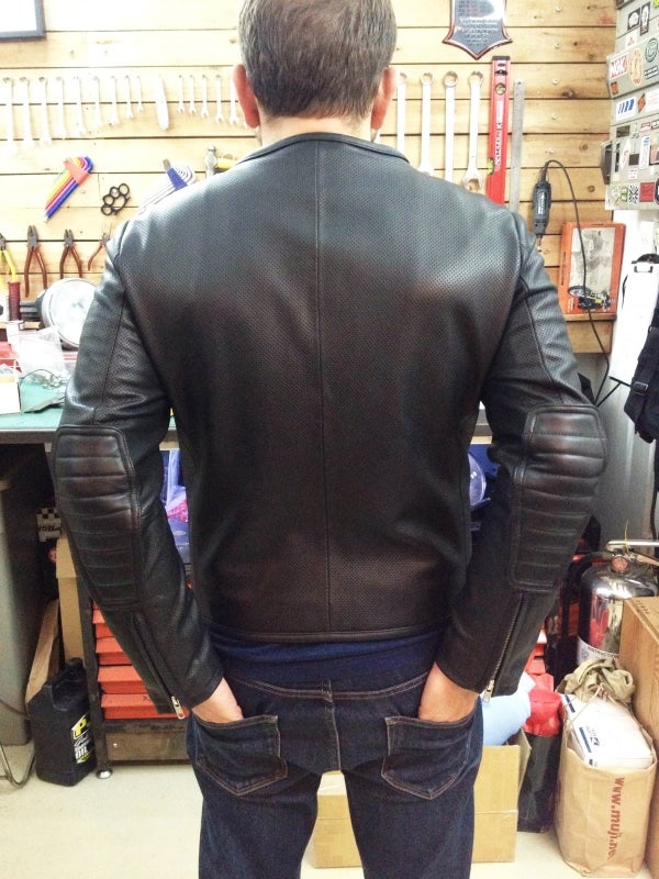 Image of The 1/4 Mile Perforated Leather Jacket // ALMOST GONE // XL & L Sizes SOLD OUT