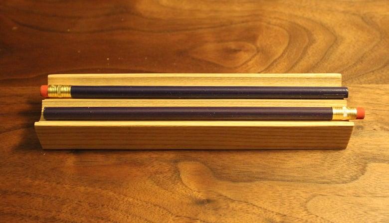 Image of Small Ash Pencil Tray (Reversible)
