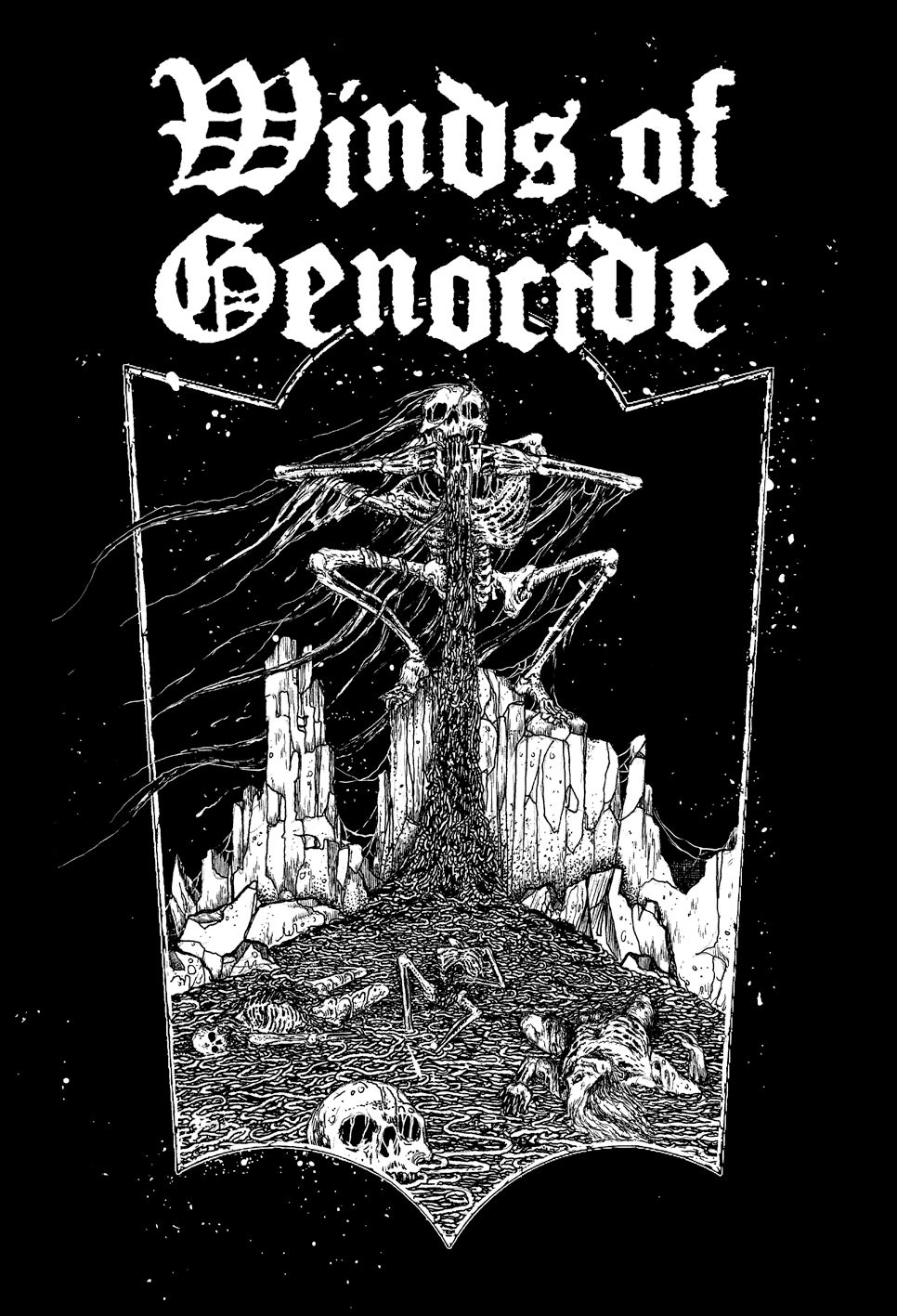 "WINDS OF GENOCIDE ""Usurping The Throne Of Disease""  T-Shirt"