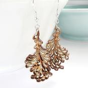 Image of Medium Silver Blossom Earrings