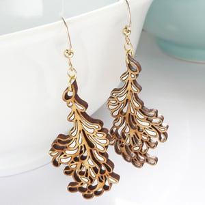 Image of Medium White Blossom Earrings
