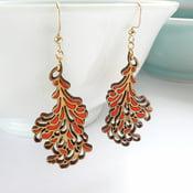 Image of Medium Red Blossom Earrings