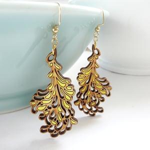 Image of Medium Yellow Blossom Earrings
