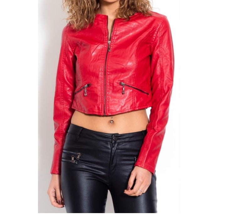 Image of Cropped Moto Jacket
