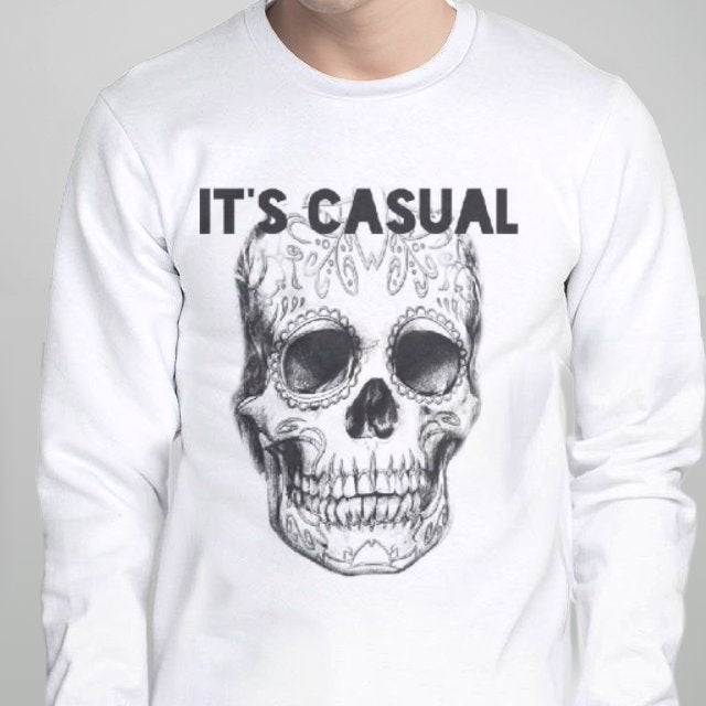 Image of day of the dead men's long sleeve